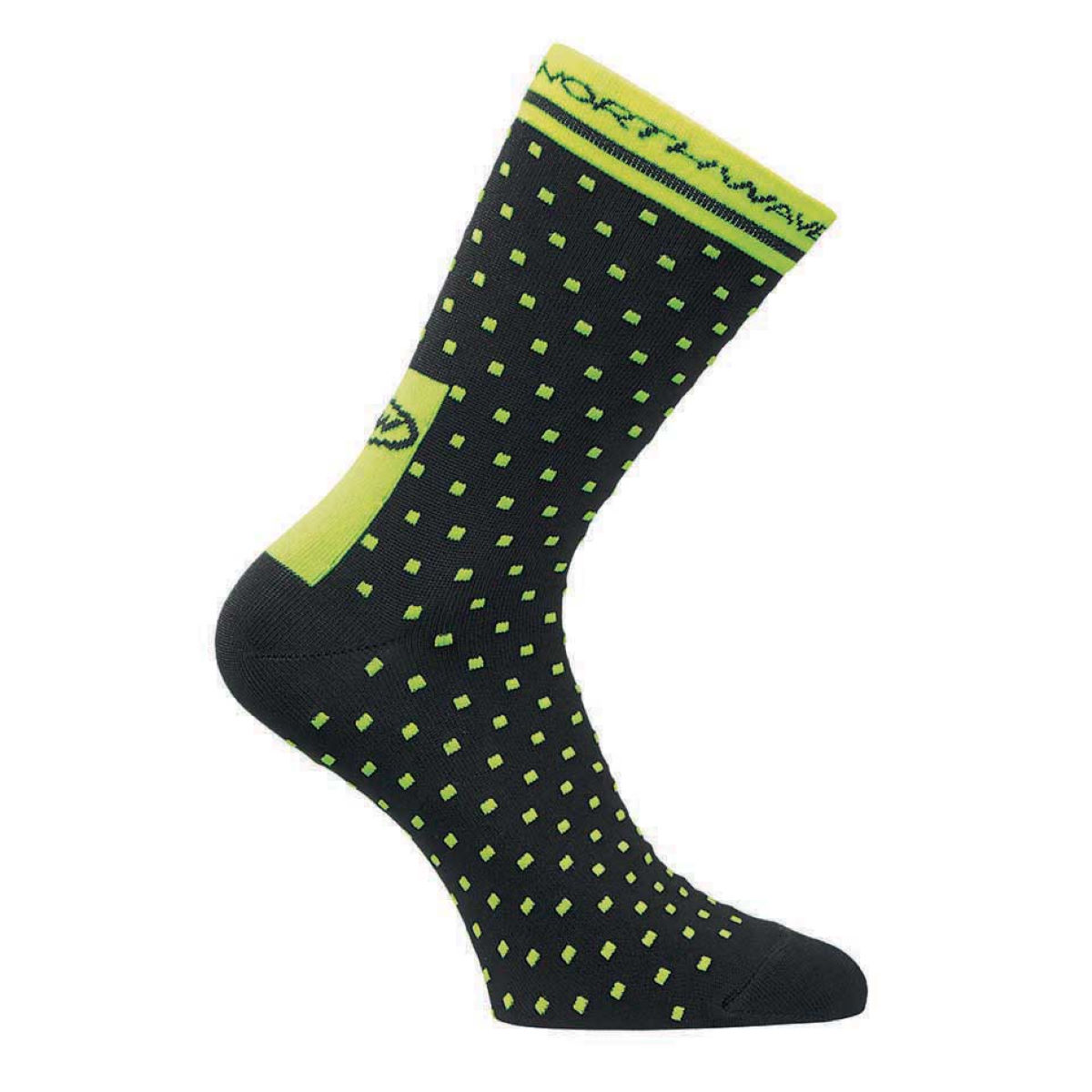 Chaussettes Northwave Switch Line - S Black/Yellow Fluo