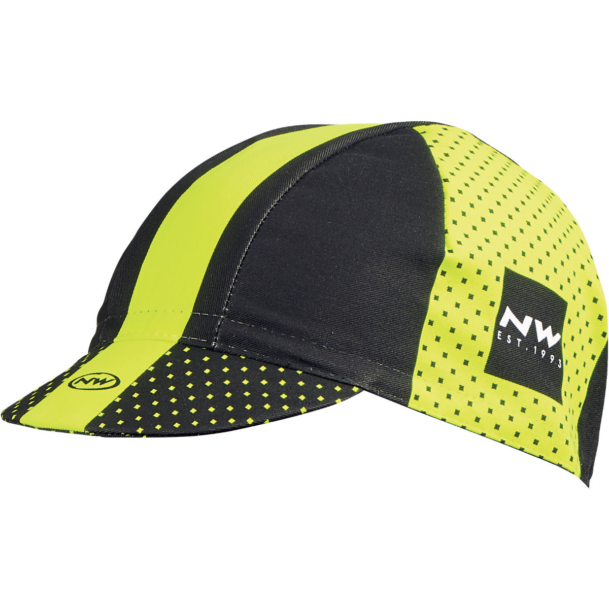 Northwave Switch Line Cap - One Size Black/Yellow Fluo Casquettes, bonnets et autres - Cyclisme