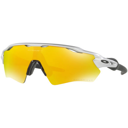 Oakley Radar EV XS Silver w/ Fire Iridium Polarized