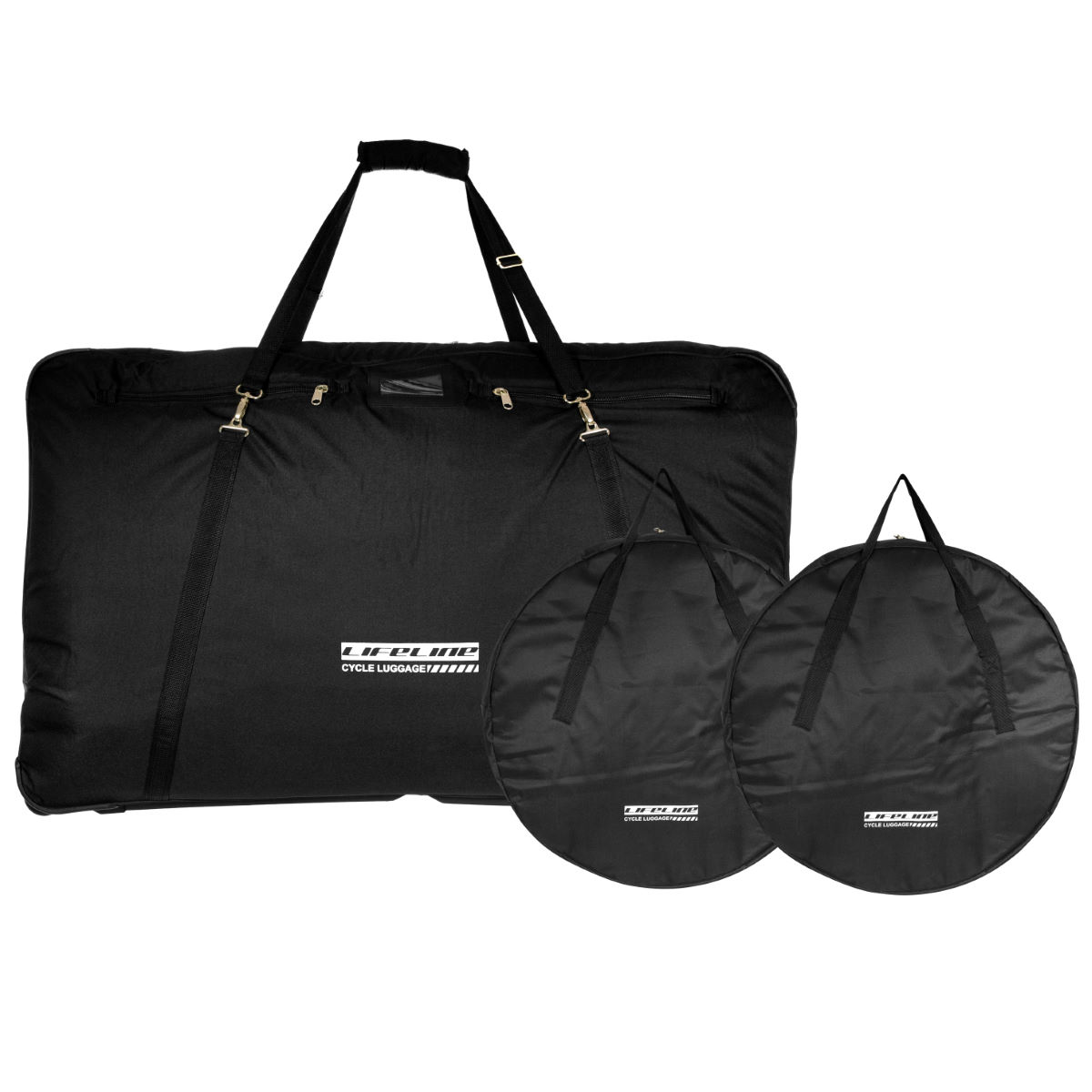 LifeLine Complete Bike & Wheel Bags Black One Size
