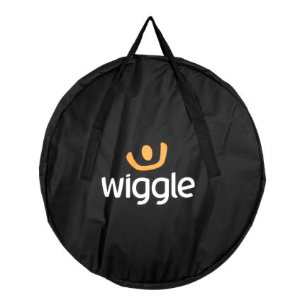 Wiggle Logo Wheel Bag Black/Orange One Size