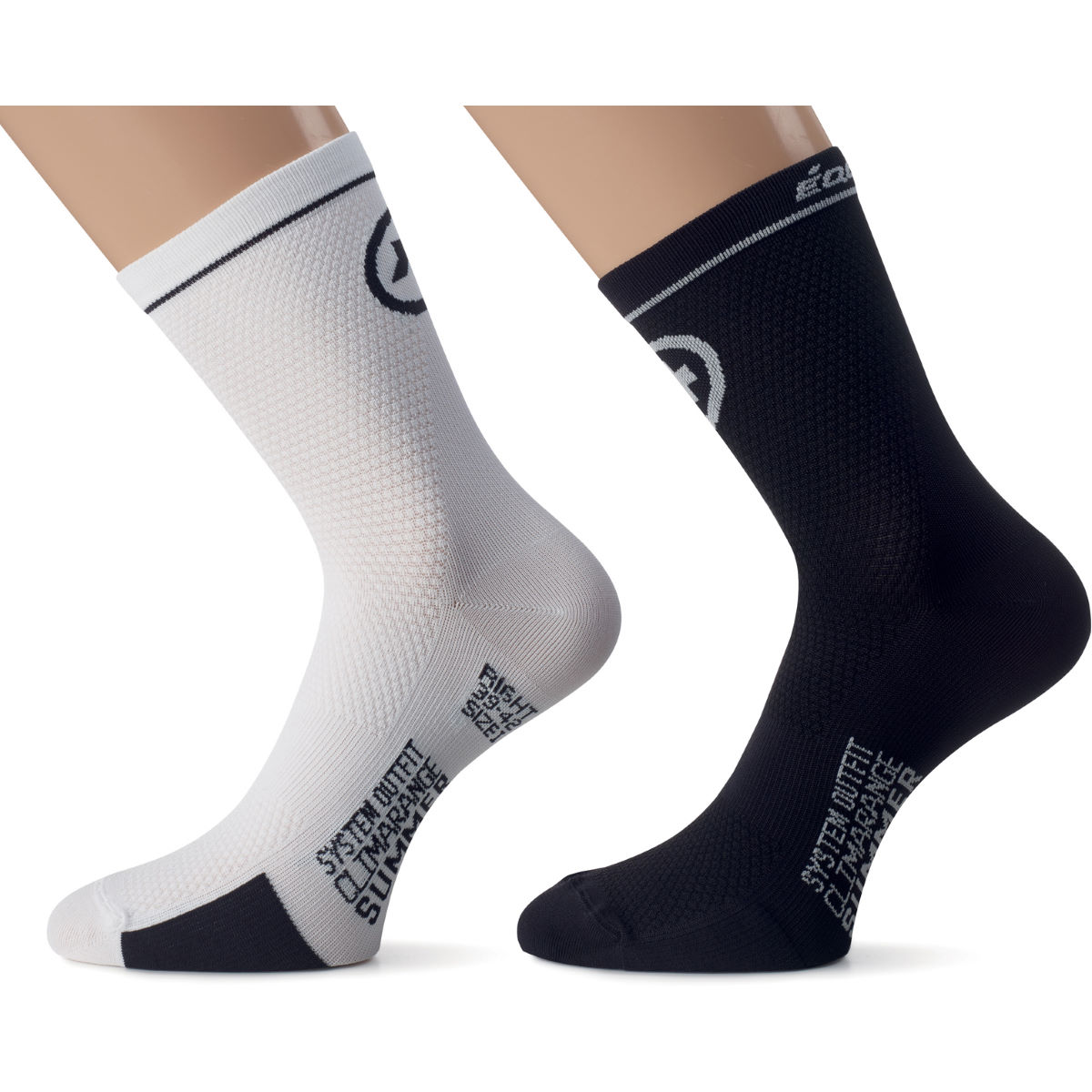 Chaussettes Assos équipeSocks_evo7 - 0 Holy White Chaussettes vélo