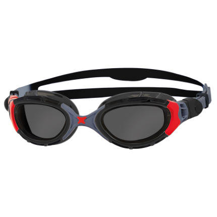 Zoggs Predator Flex Polarized Goggles Black/White One Si