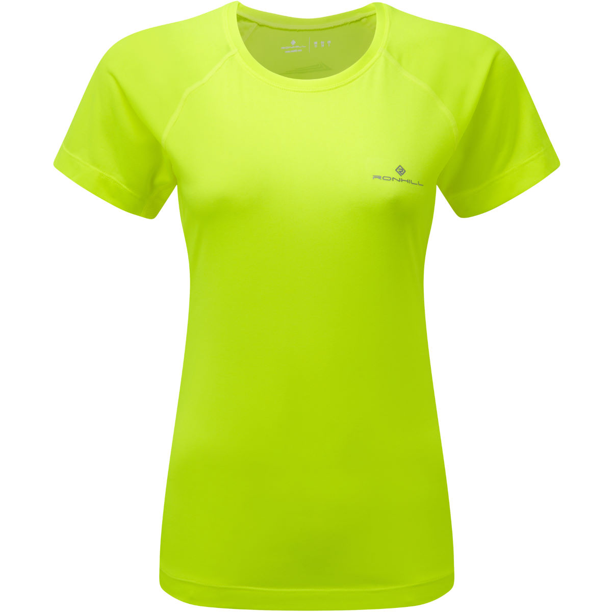 Maillot Femme Ronhill Momentum (manches courtes) - M Jaune fluo