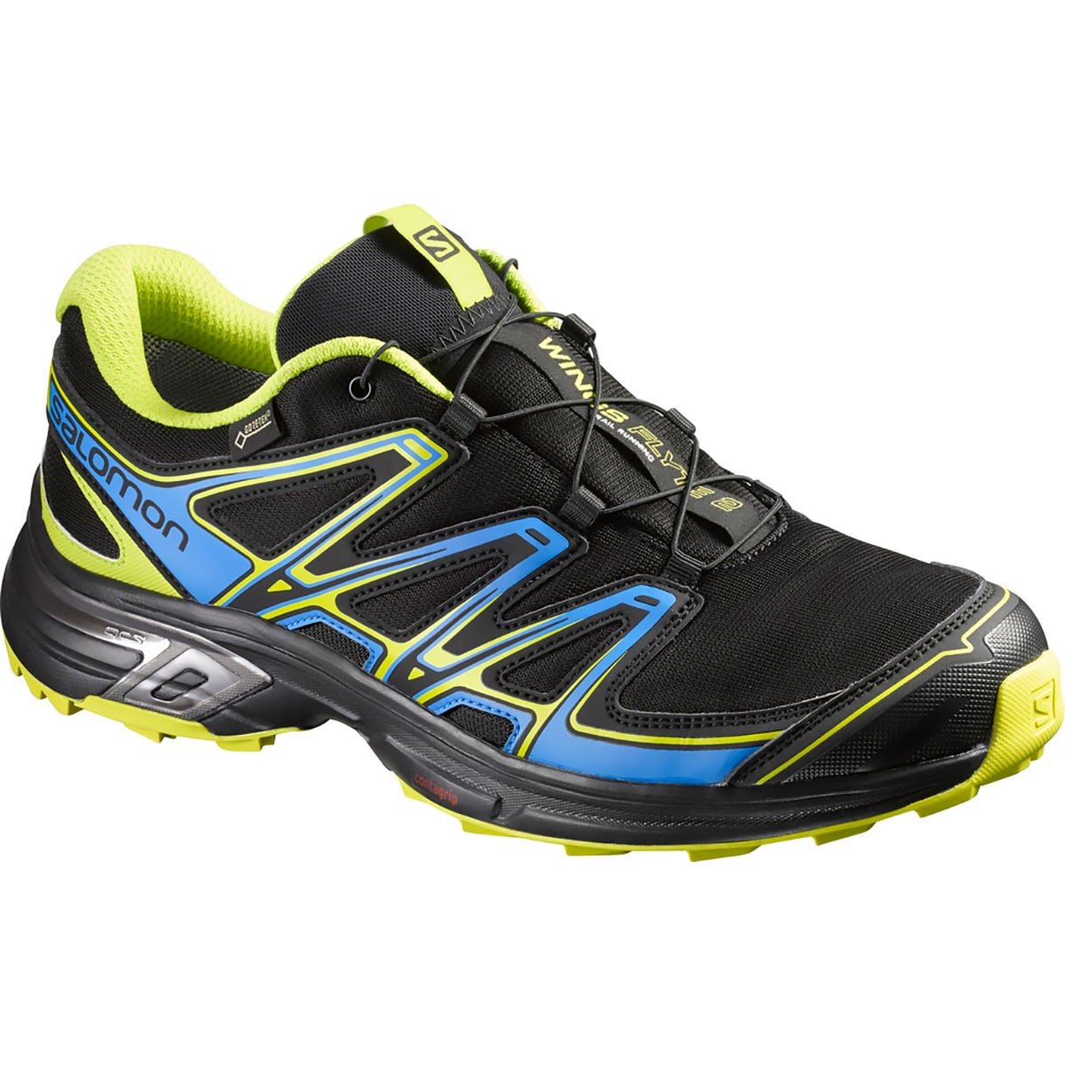 Chaussures Salomon Wings Flyte 2 GTX - 10 black/blue/green