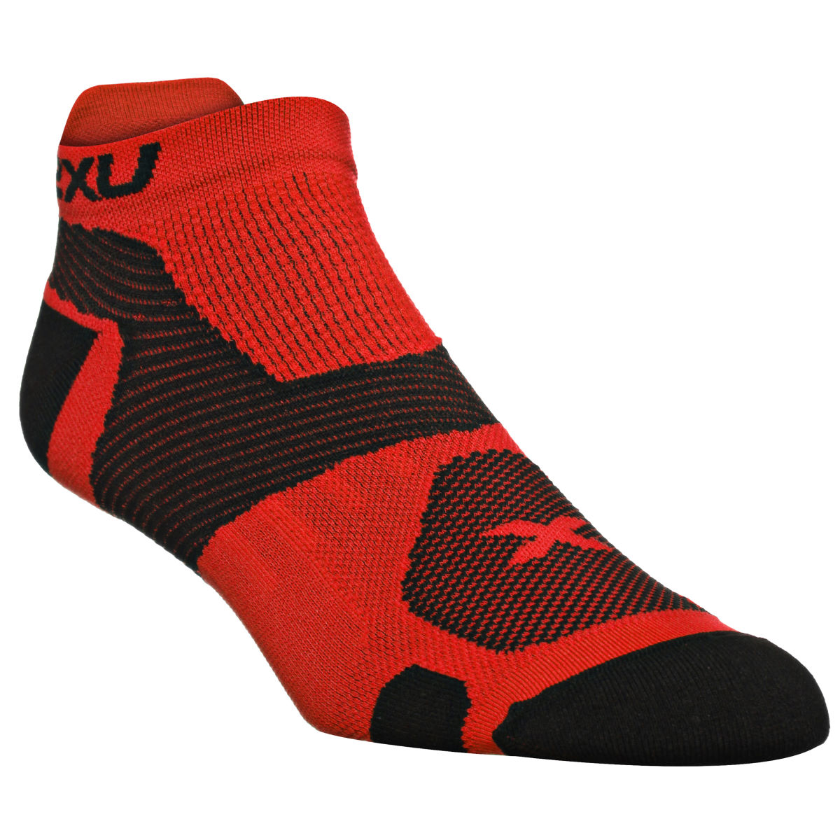 Chaussettes 2XU Race Vector - S Flame Scarlet/Black
