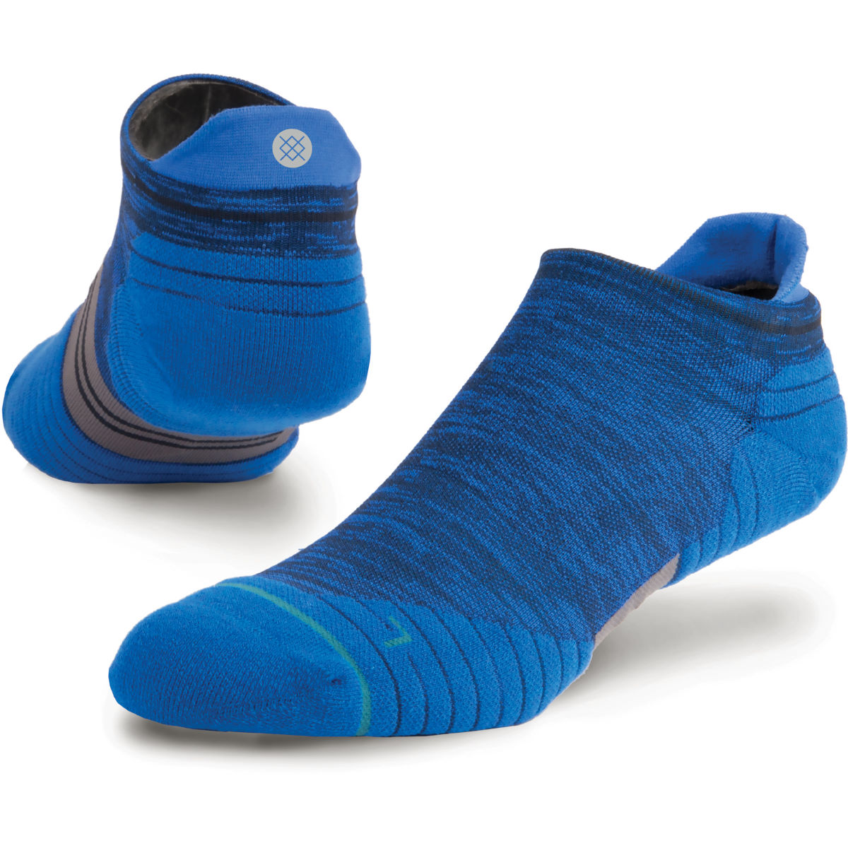 Chaussettes basses Stance Uncommon Solids Tab Run - L Bleu marine