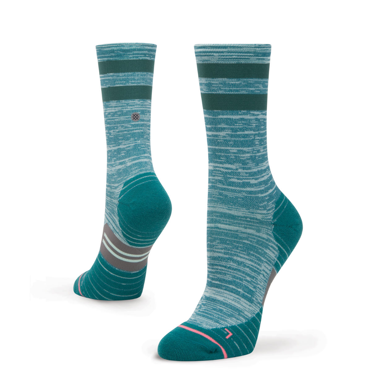 Chaussettes de running Femme Stance Uncommon Solid Crew - S Teal