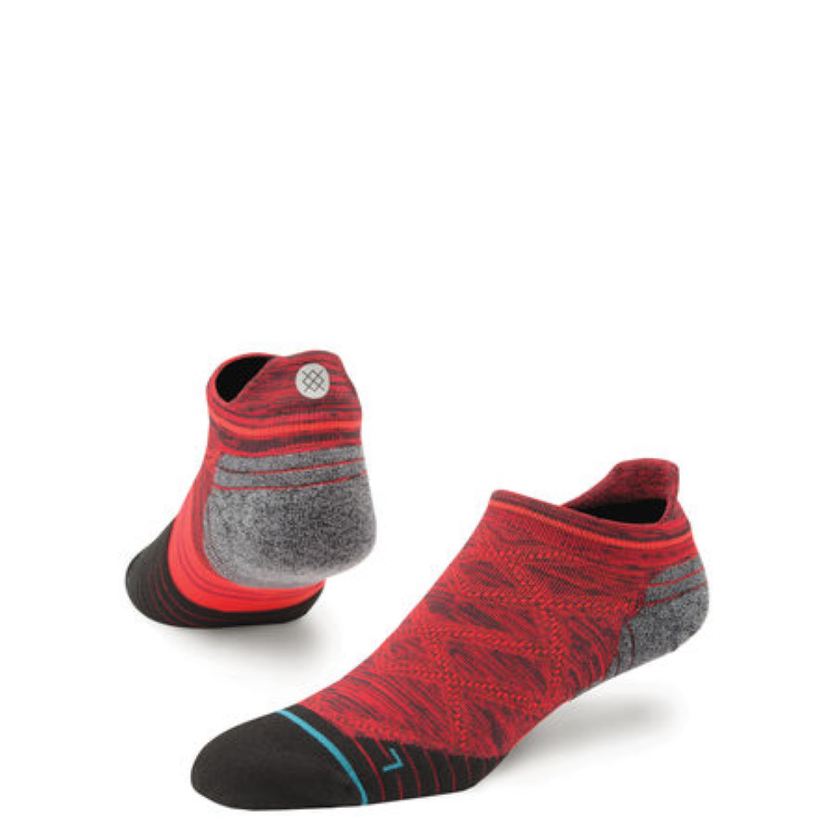 Chaussettes basses Stance Endeavor Tab Run - M Rouge