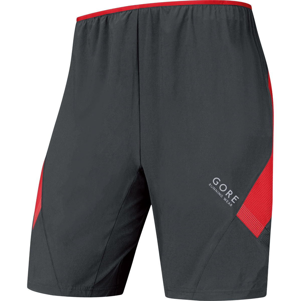 Short Gore Running Wear Air (2 en 1) - L black/red Shorts de running