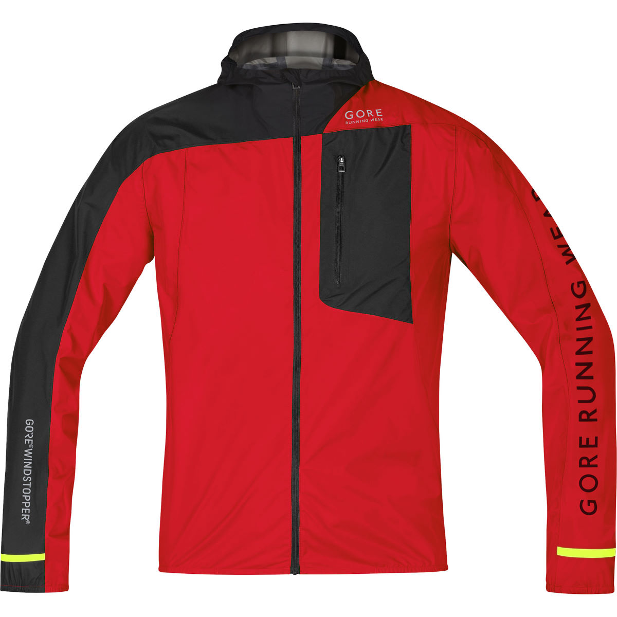 Veste Gore Running Wear Fusion WINDSTOPPER® AS - S red/black Vestes