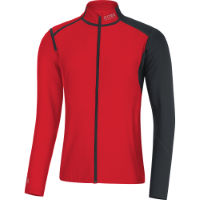 Maillot Gore Running Wear Fusion WINDSTOPPER® SO (fermeture zippée)