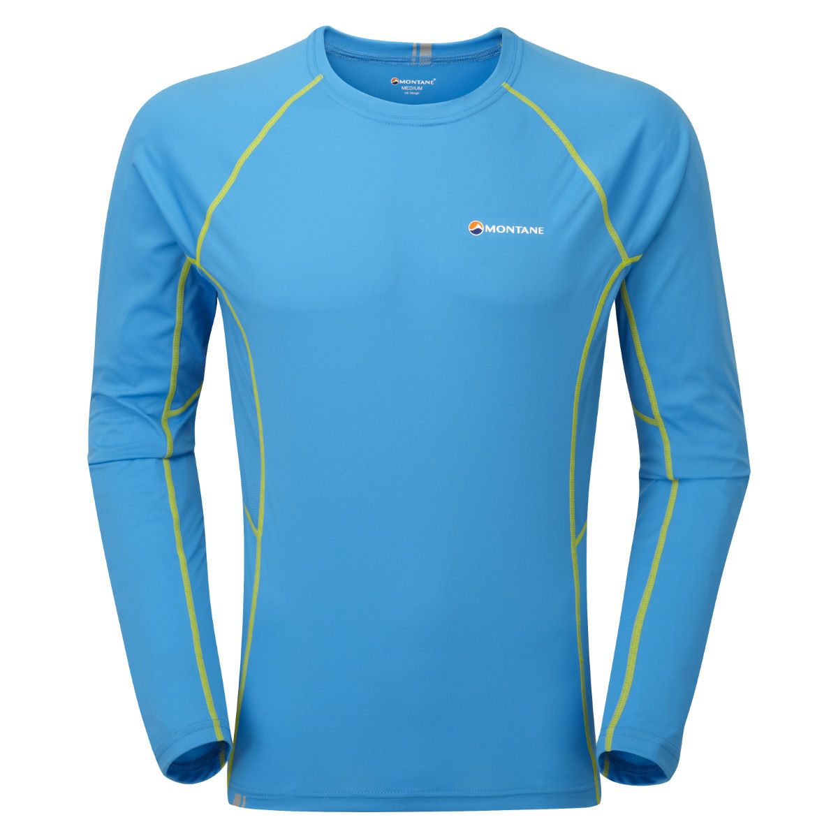 Montane - Sonic Long Sleeve T-Shirt - S Blue Spark/Kiwi