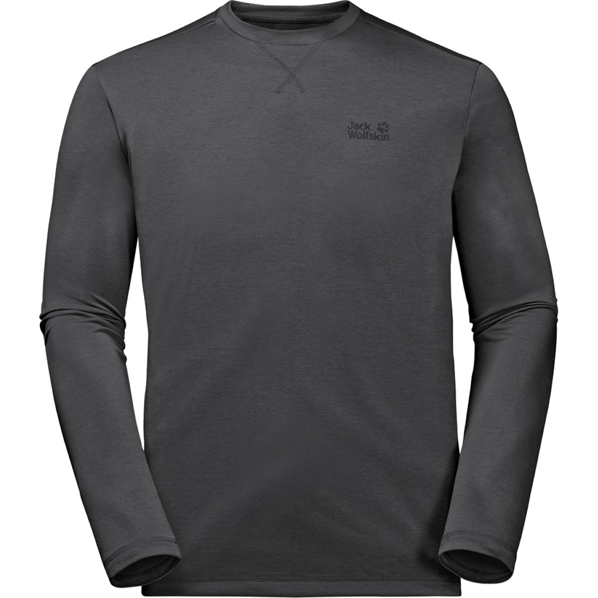 Maillot Jack Wolfskin Crosstrail (manches longues) - L Gris