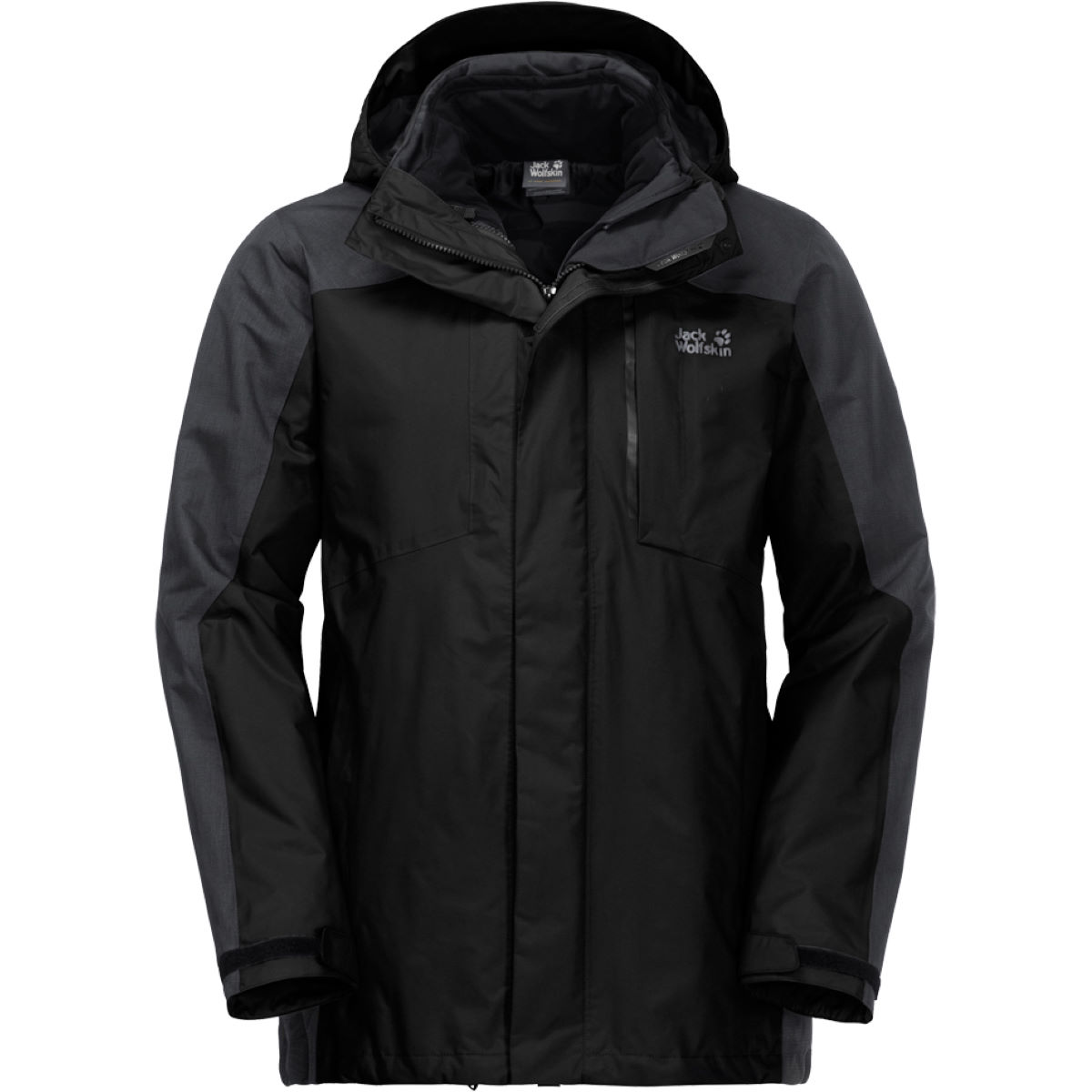 Veste Jack Wolfskin Viking Sky - Medium Black Vestes imperméables