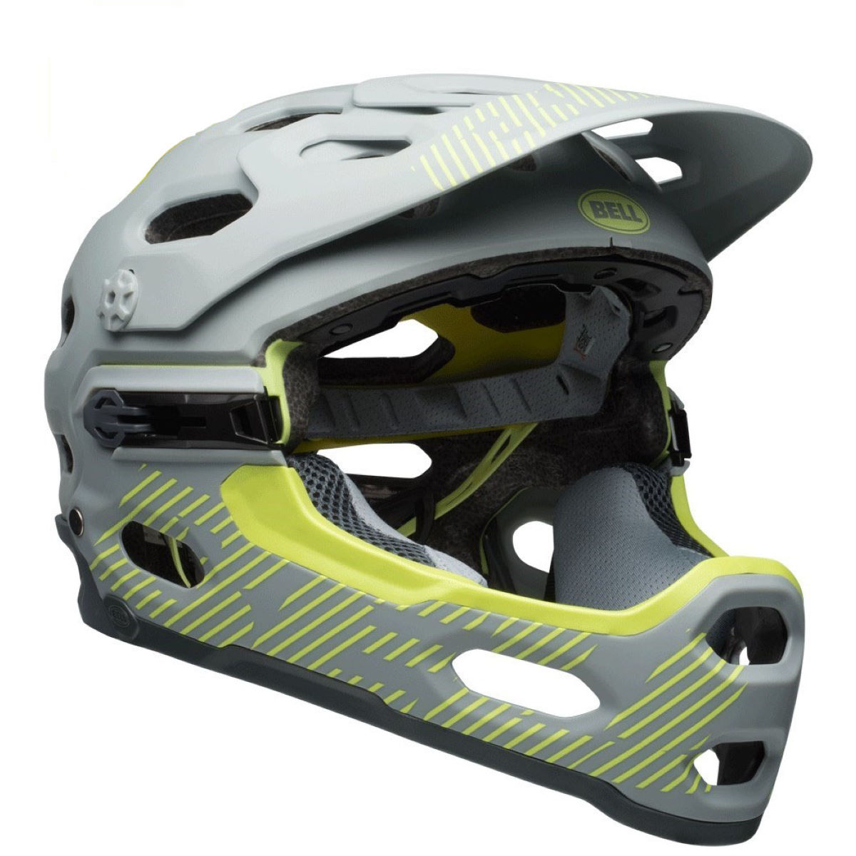 Casque Bell Super 3R MIPS - S Matte Smoke/Pear Casques intégraux