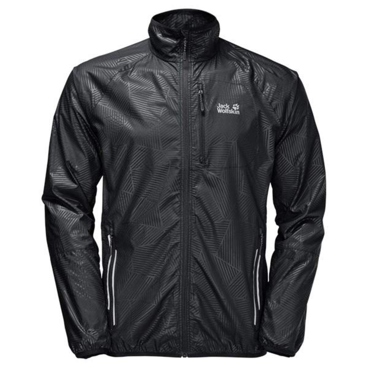 Veste Jack Wolfskin Flyweight Forest Leaf - L Black All Over