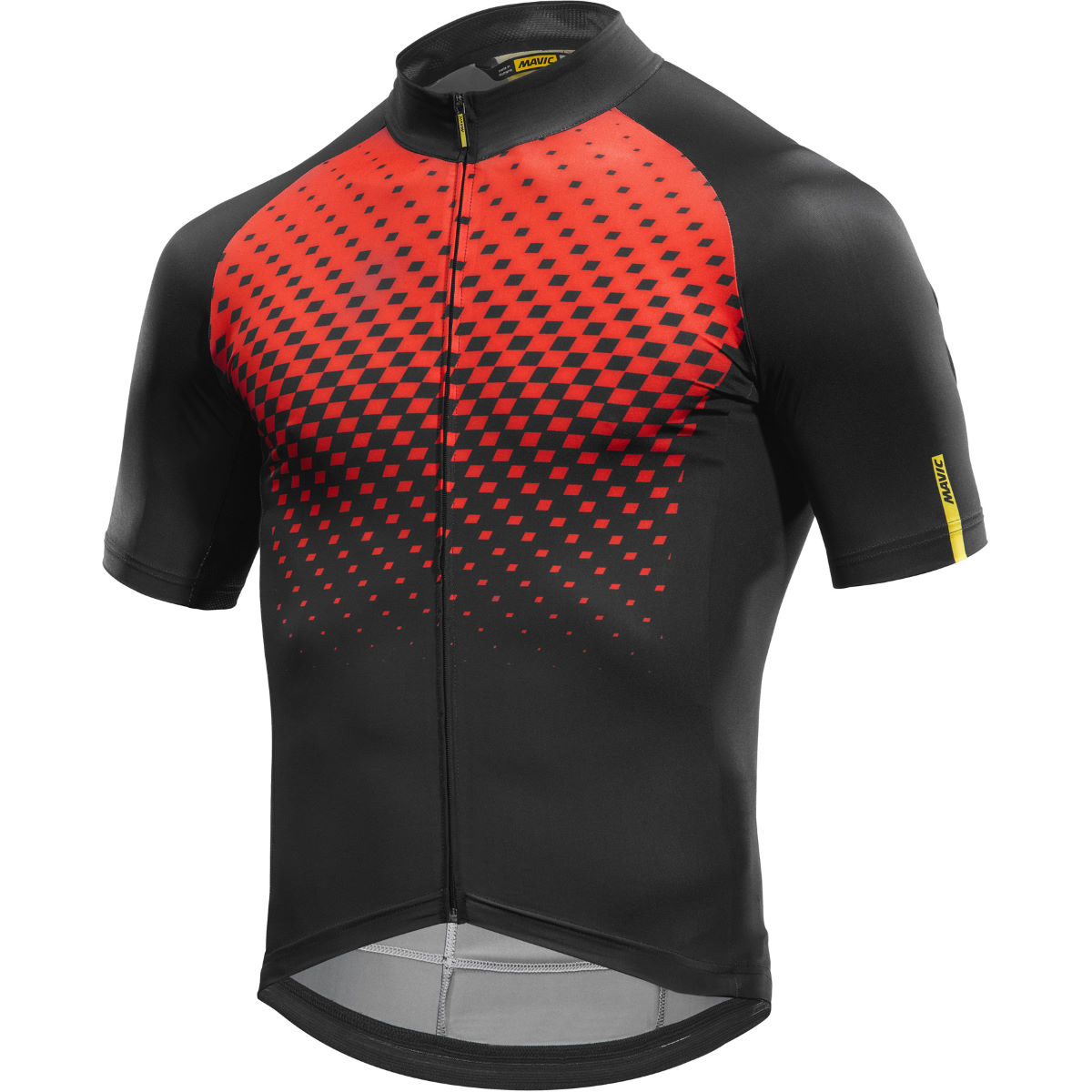 Maillot Mavic Cosmic Graphic - M Fiery Red/Black Maillots vélo à manches courtes