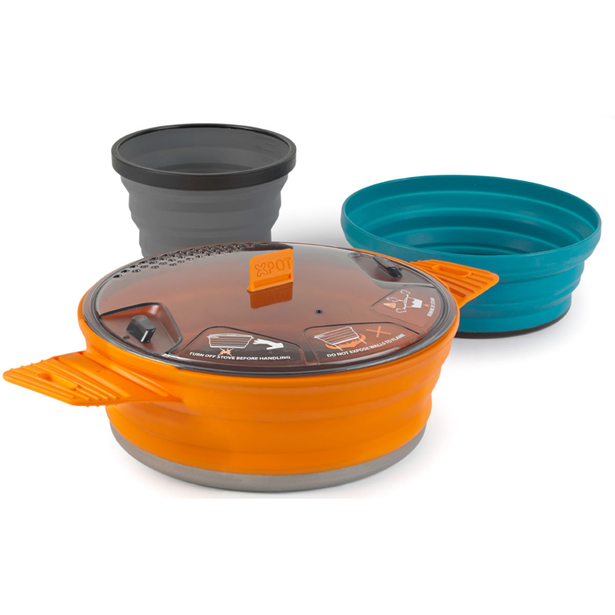 Lot Sea To Summit X-Set: 21 (3 pièces : 1 plat de cuisson X-Pot d'1,4 litre, 1 bol X, 1 tasse X)