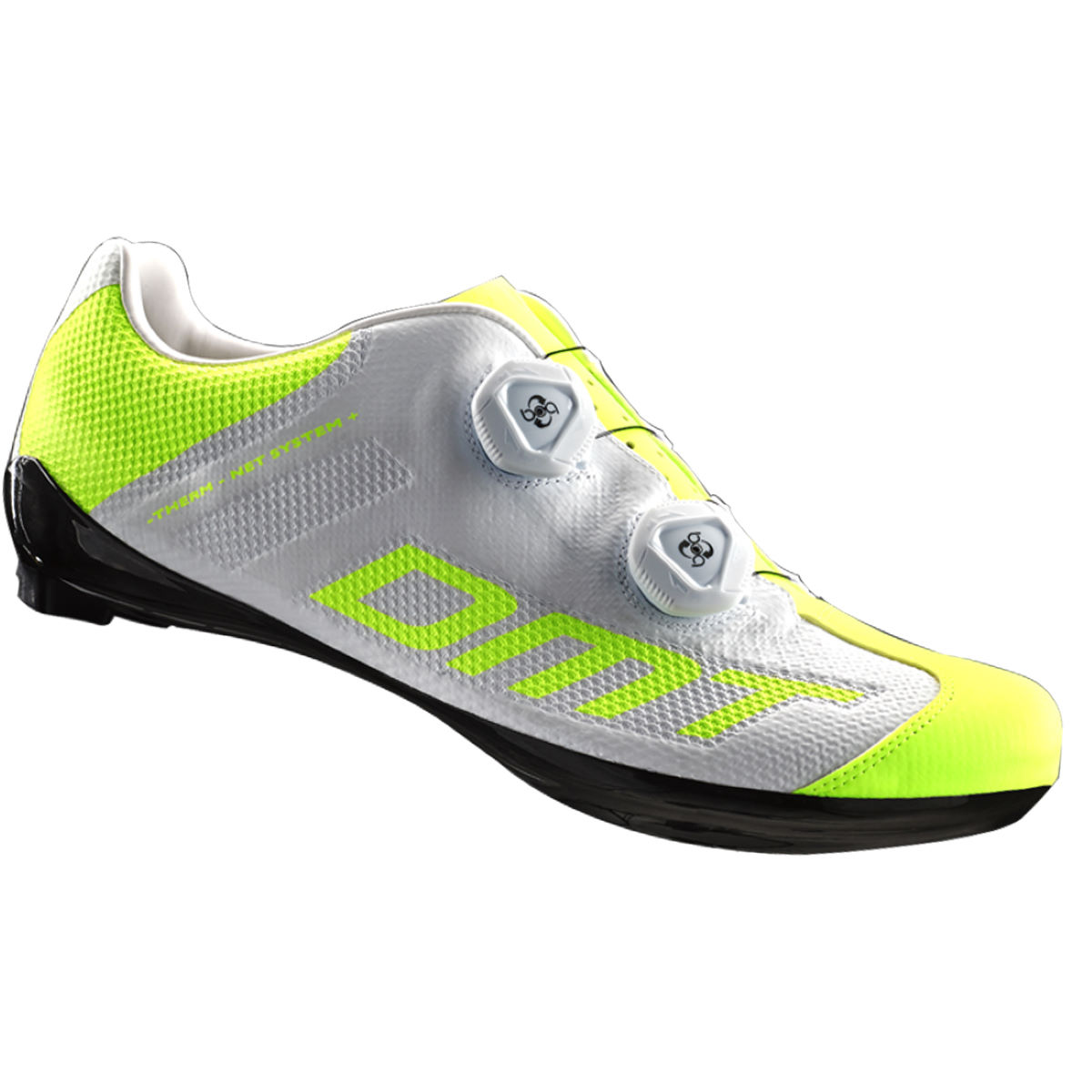 DMT R1S Road Shoe - 44.5 White/Yellow | Road Shoes