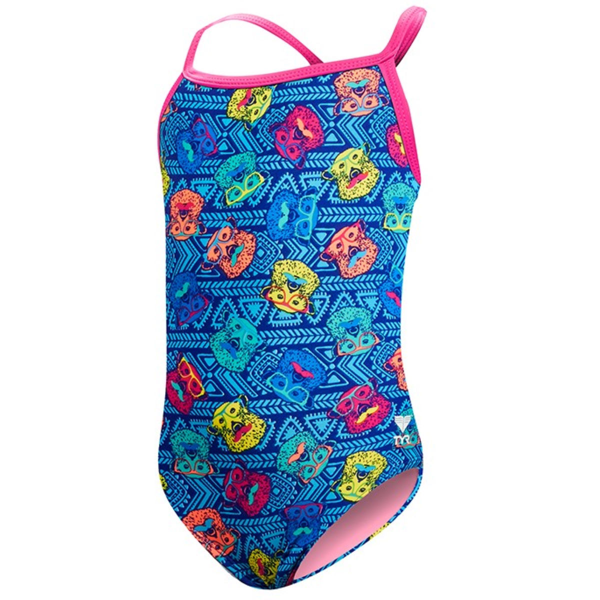 Maillot de bain Fille TYR Bear Dog Diamondfit - Extra Small Bleu