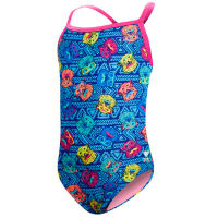 TYR Girls Bear Dog Diamondfit Swimsuit