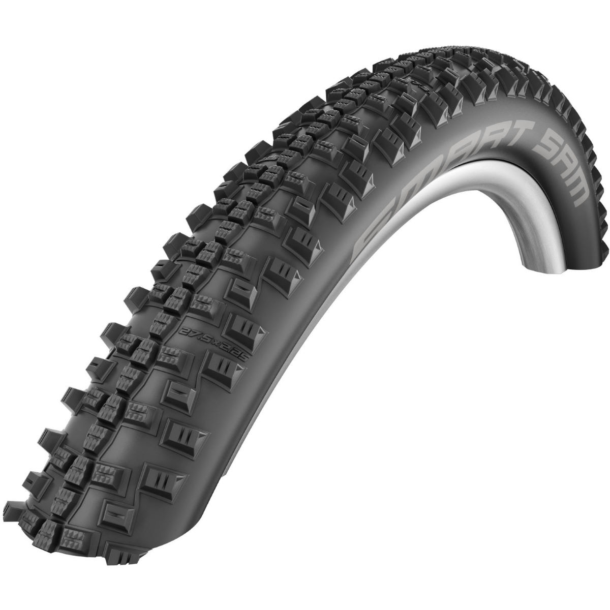 Schwalbe Smart Sam Performance MTB Tyre - 40C 700c Black / Reflex Pneus VTT