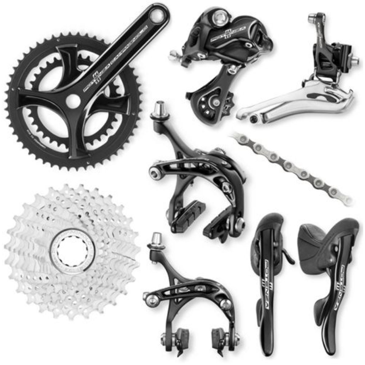 Campagnolo Potenza 11 Speed Groupset - 52/36 x 12-27T 175mm Noir Groupes