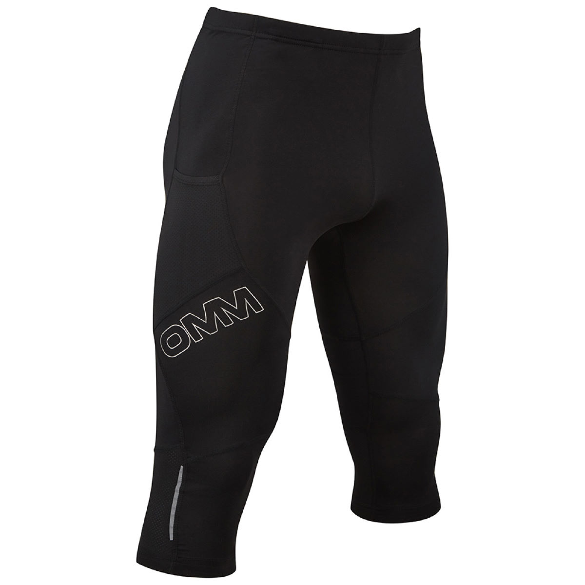 Collant OMM Flash 0,75 - XL Noir Shorts de running