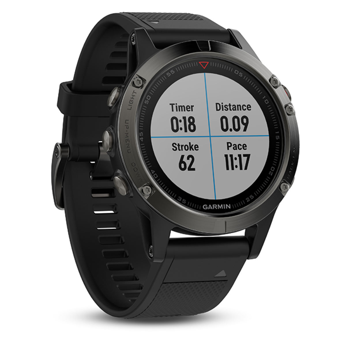 Montre GPS Garmin Fenix 5 - 47 MM Slate Grey Compteurs GPS de running