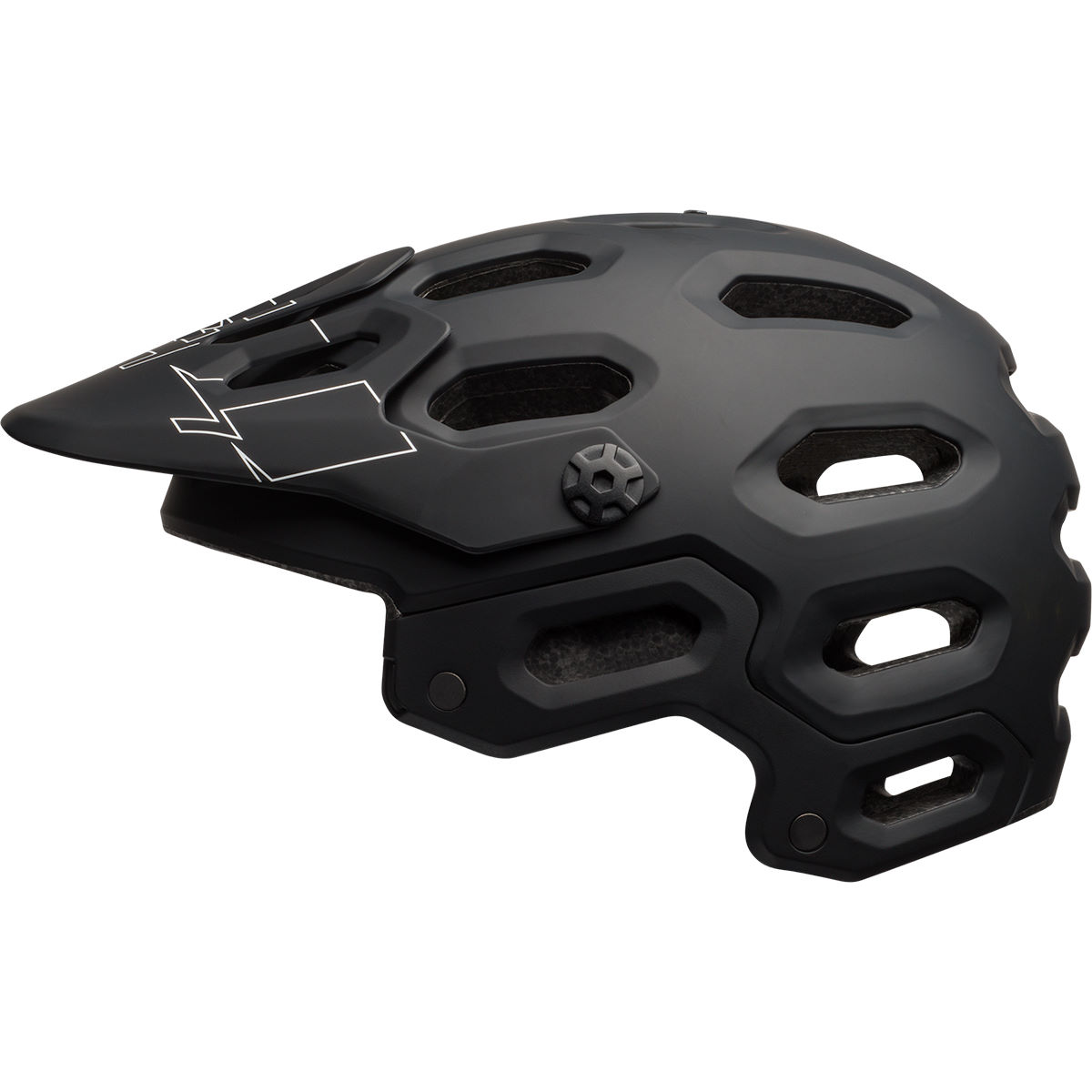 Casque Bell Super 3 - S Matte Black/White Casques VTT