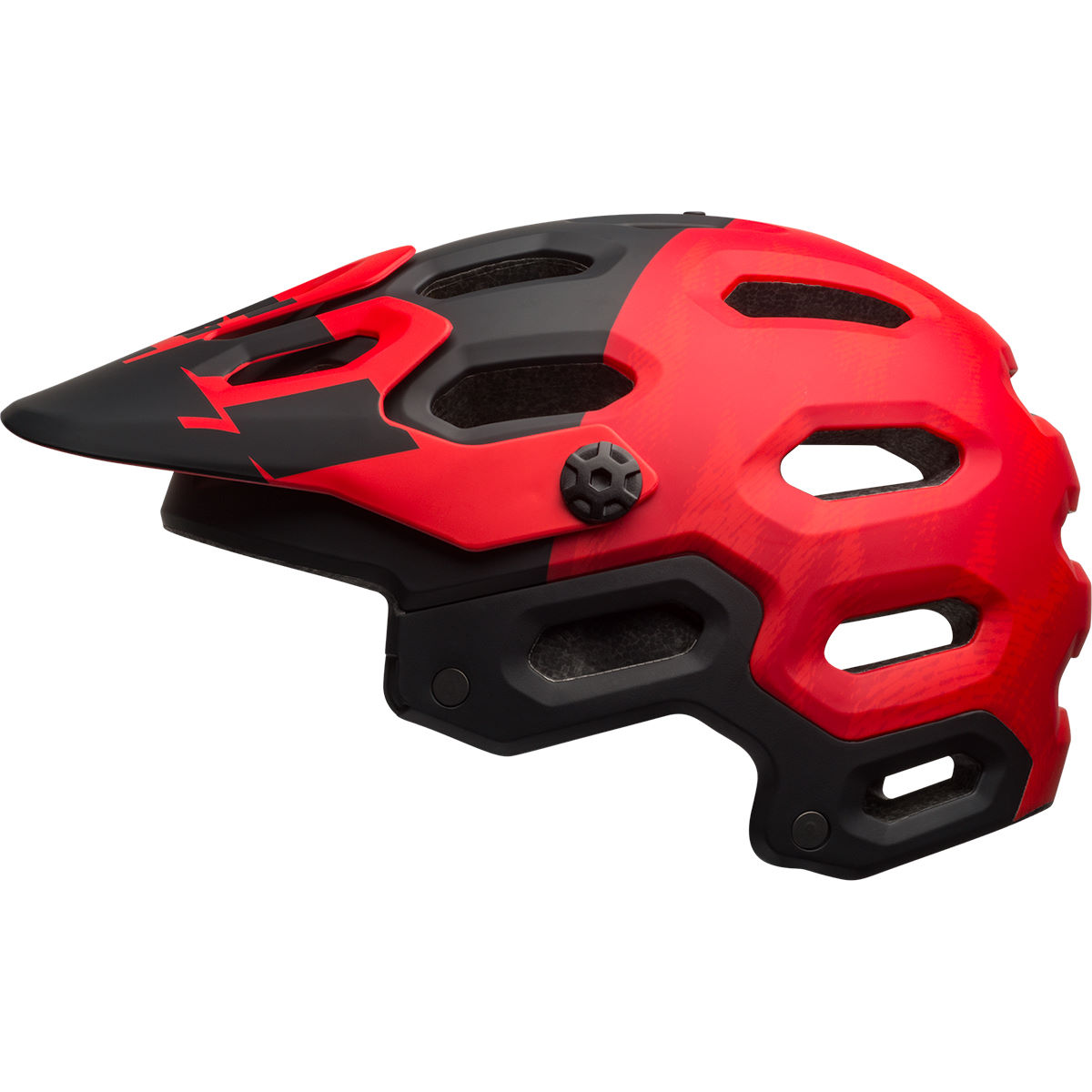 Casque Bell Super 3 - S Matte Red/Marsala/Bl Casques VTT