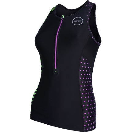 Zone3 Women's Activate+ Top Wiggle Exclusive Stripes
