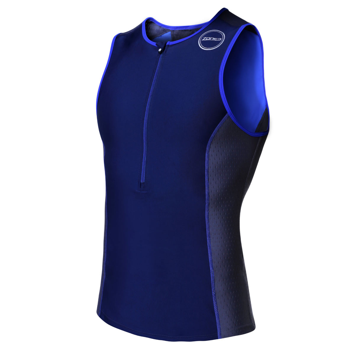 Maillot Zone3 Aquaflo+ (bleu) - XS Navy/Grey/Blue Hauts de triathlon