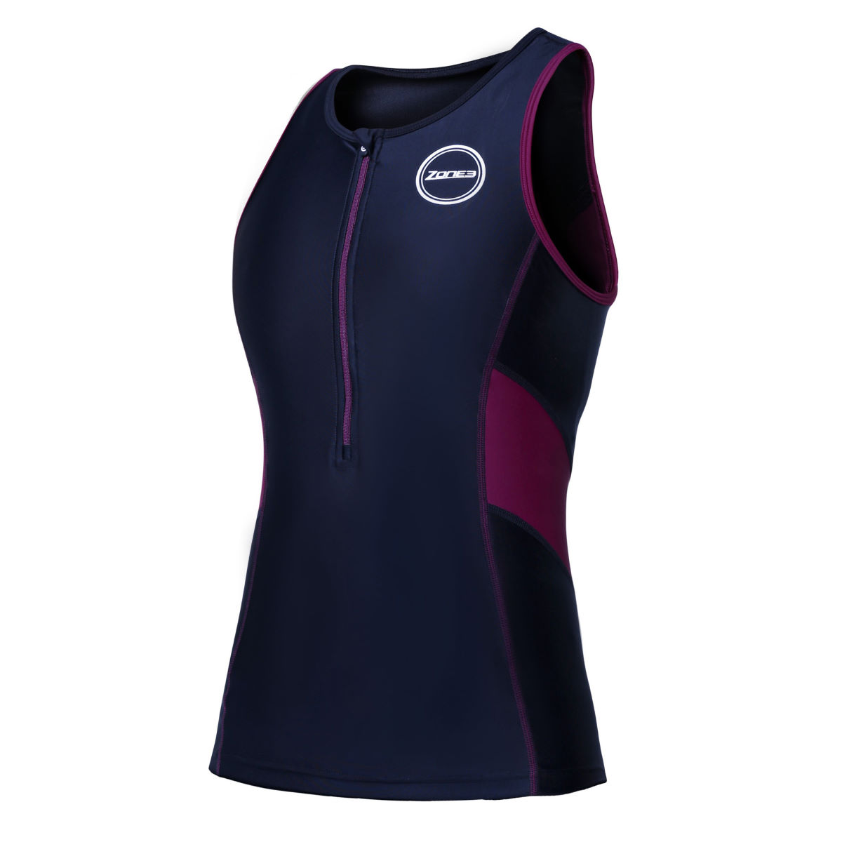 Haut de triathlon Femme Zone3 Activate - XS Black/Purple