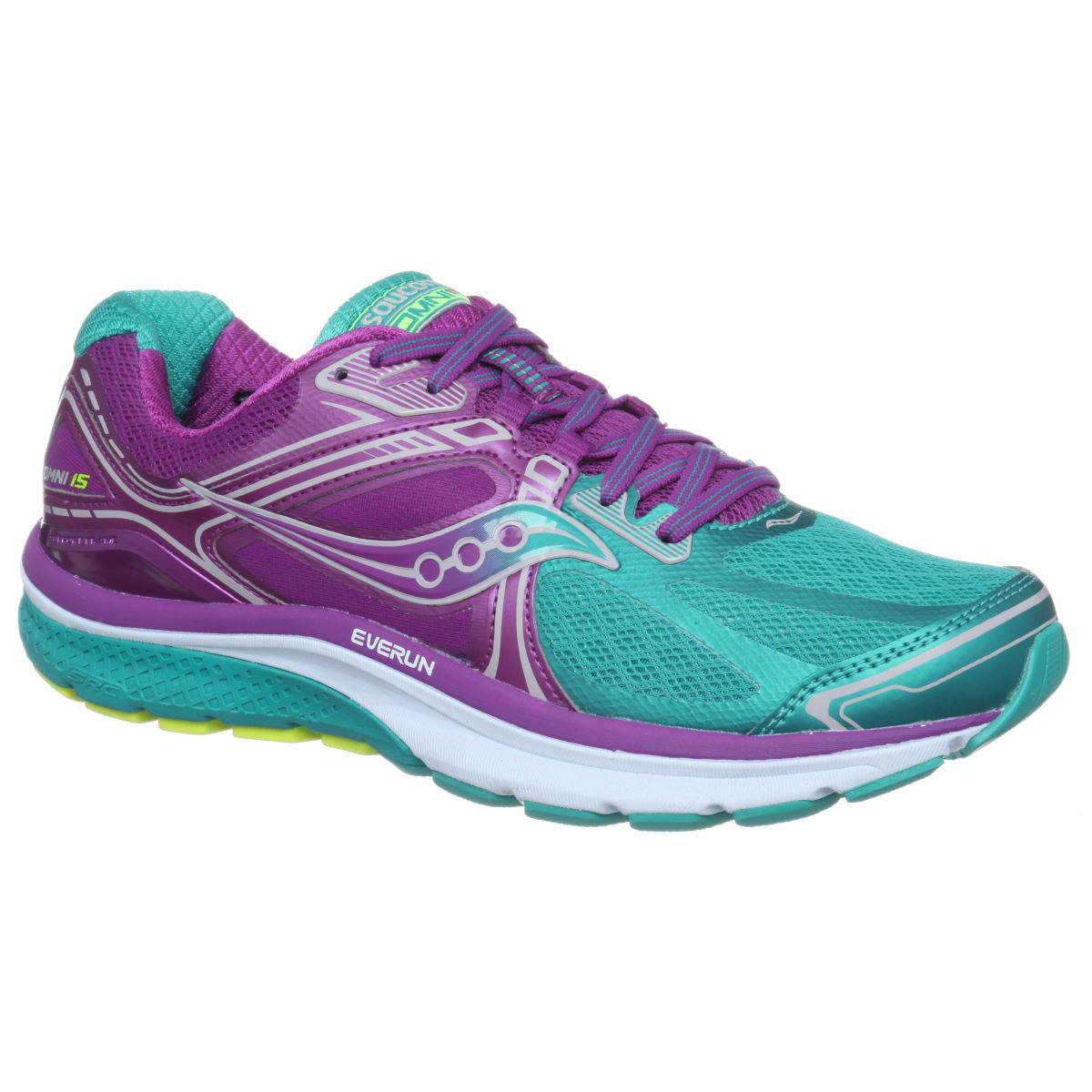 Chaussures Femme Saucony Omni 15 - UK 5 Teal / Purple