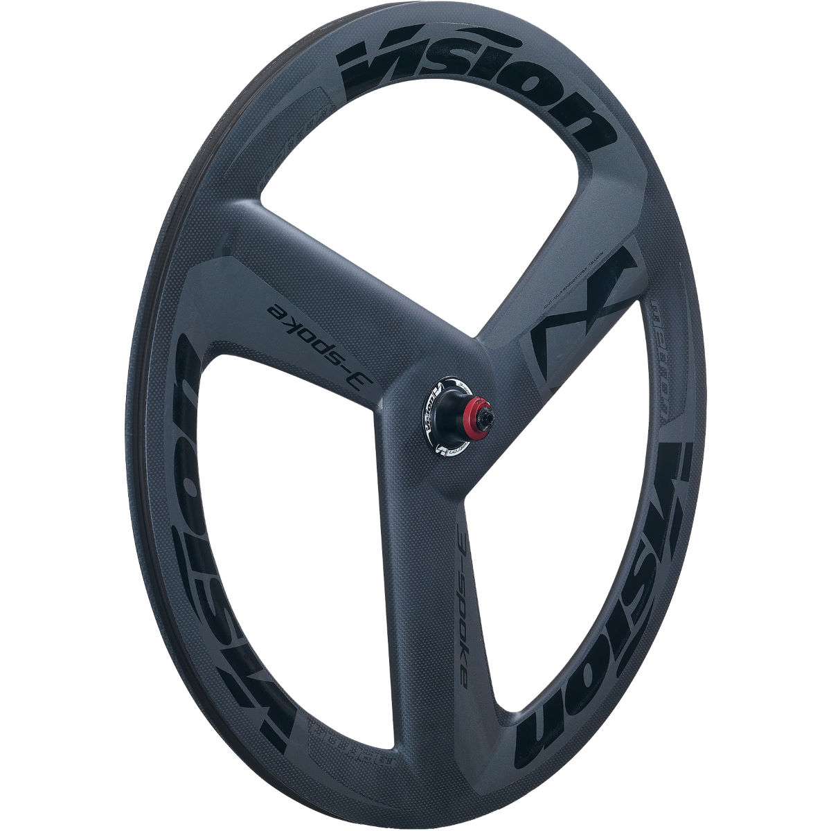 Roue avant Vision Metron Carbon Grey 700 (3 rayons, boyau) - 700c Campagnolo Gris Roues performance