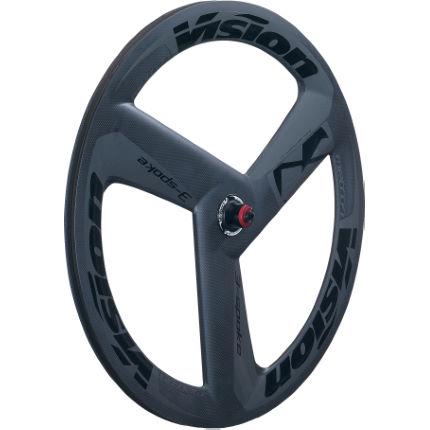 Vision Metron 3-Spoke Carbon Tubular Front Wheel Grey 700