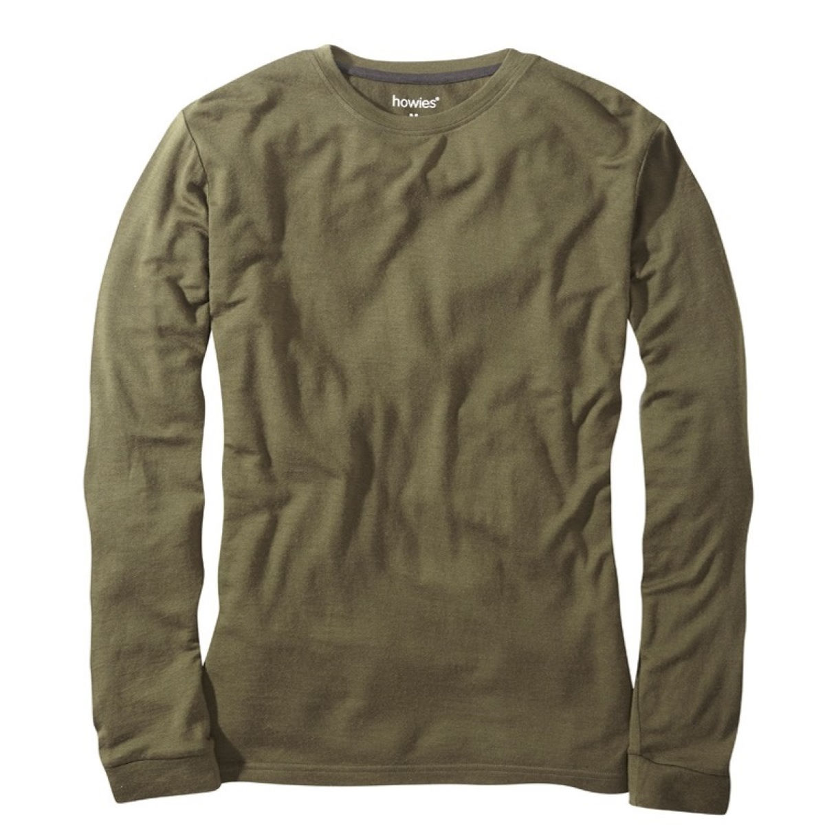 Maillot howies Merino (manches longues) - S Dark Olive T-shirts
