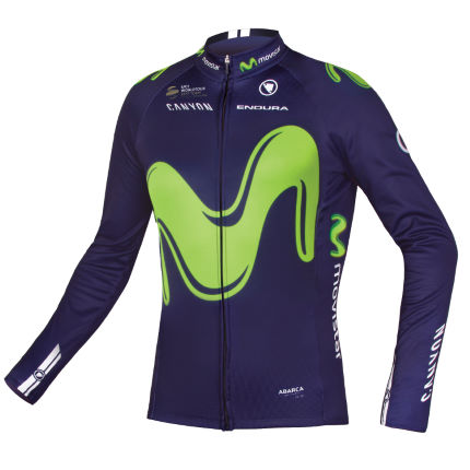 Endura Movistar Team fietstrui (lange mouwen, 2017)