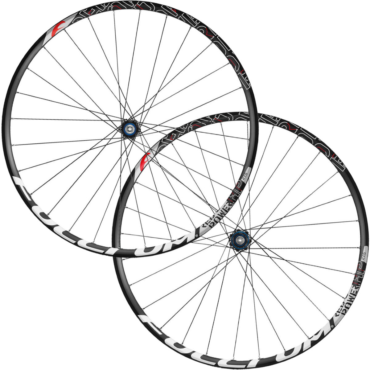 Fulcrum Red Power HP 27.5'' Disc Brake MTB Wheelset - 6 Bolt QR Black / Red Roues performance