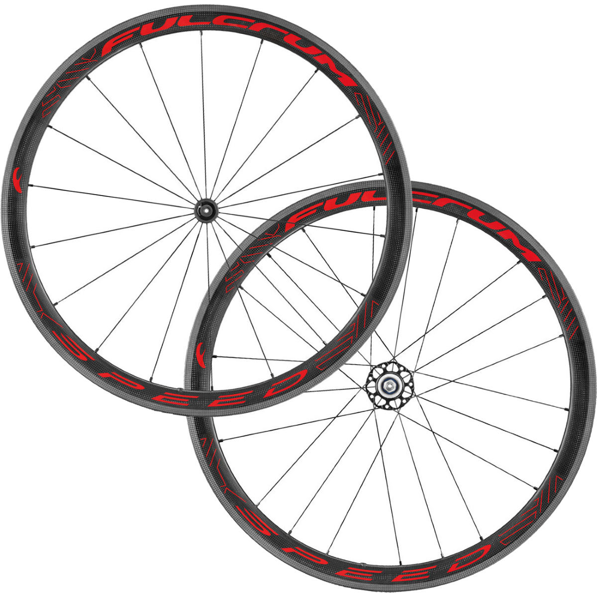 Fulcrum SPEED 40C Carbon Clincher Wheelset - 700c Shimano/SRAM Carbon / Red Roues performance