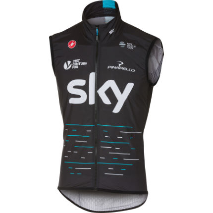 Gilet Castelli Team SKY Pro Light Wind (sans manches)
