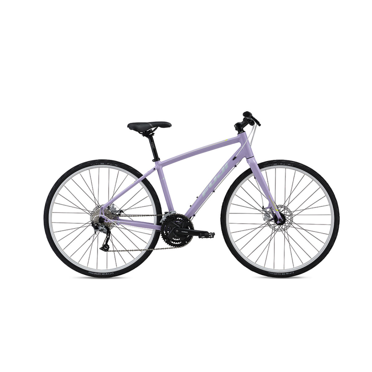 Fuji Silhouette 1.7 (2016) Hybrid Bike - 15'' Stock Bike Light Purple Vélos hybrides & ville