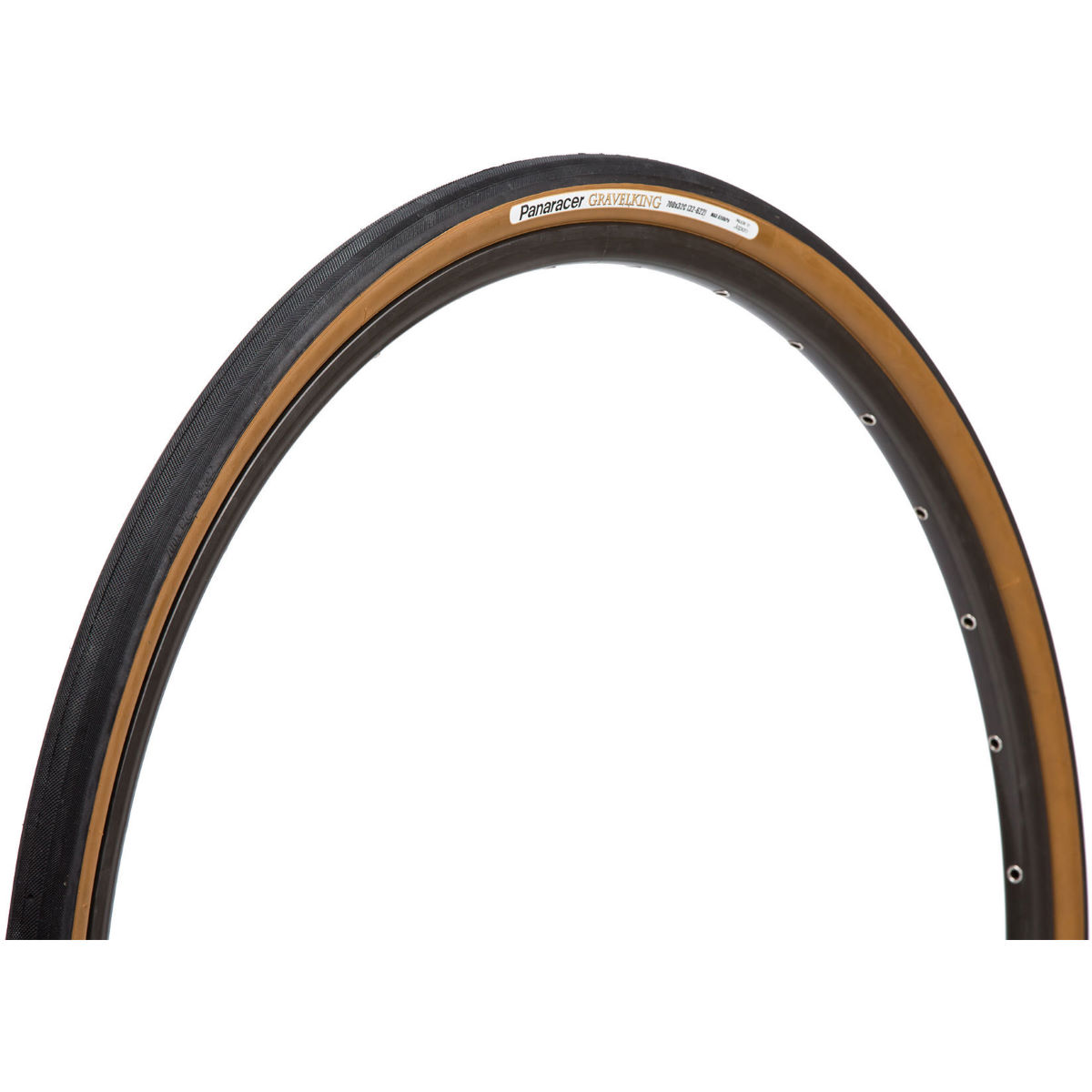 Pneu VTT Panaracer Gravel King (souple) - 1.75 27.5'' Black/Brown