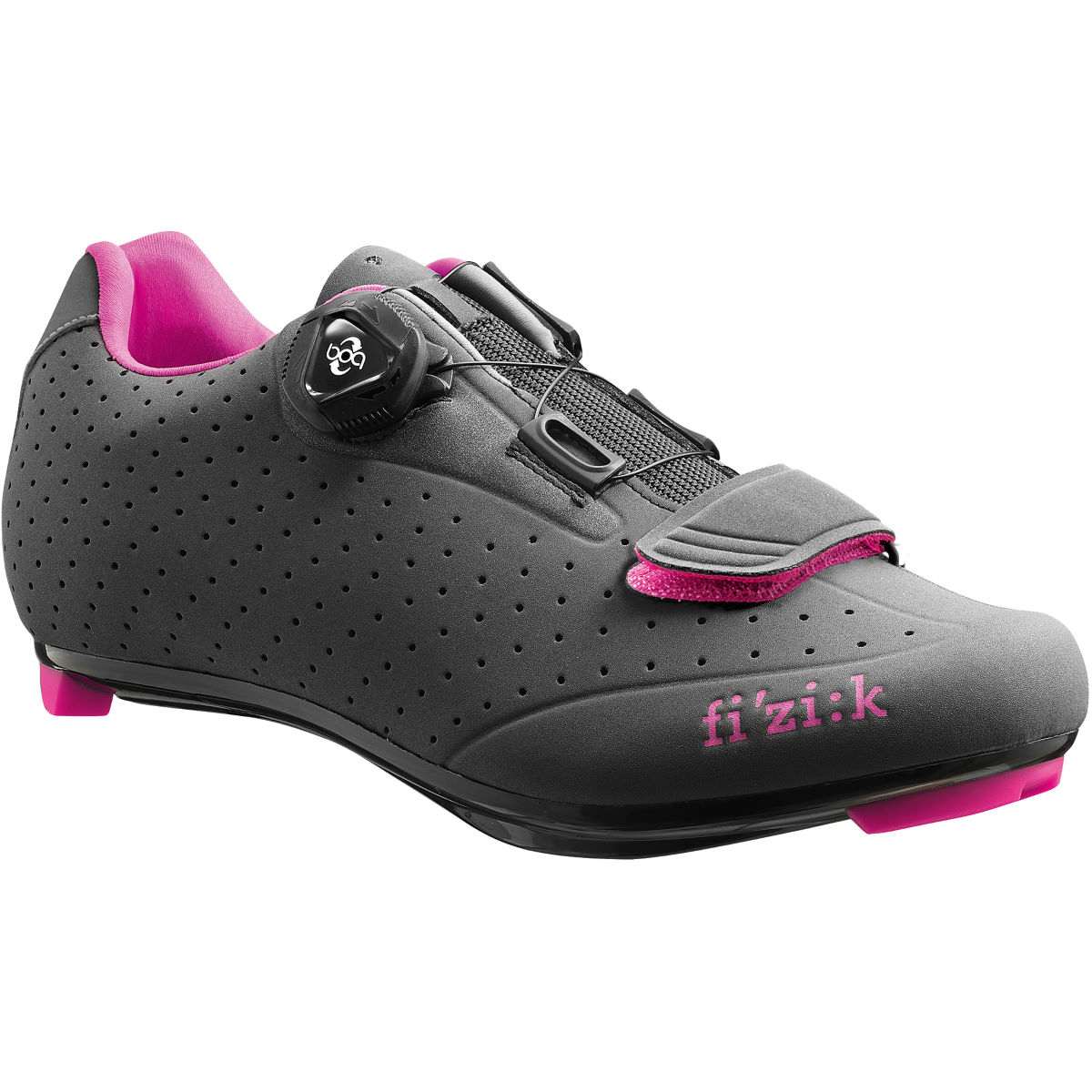 Fizik Women's R5B Donna Road Shoe - 39 Anthracite/Pink | Road Shoes