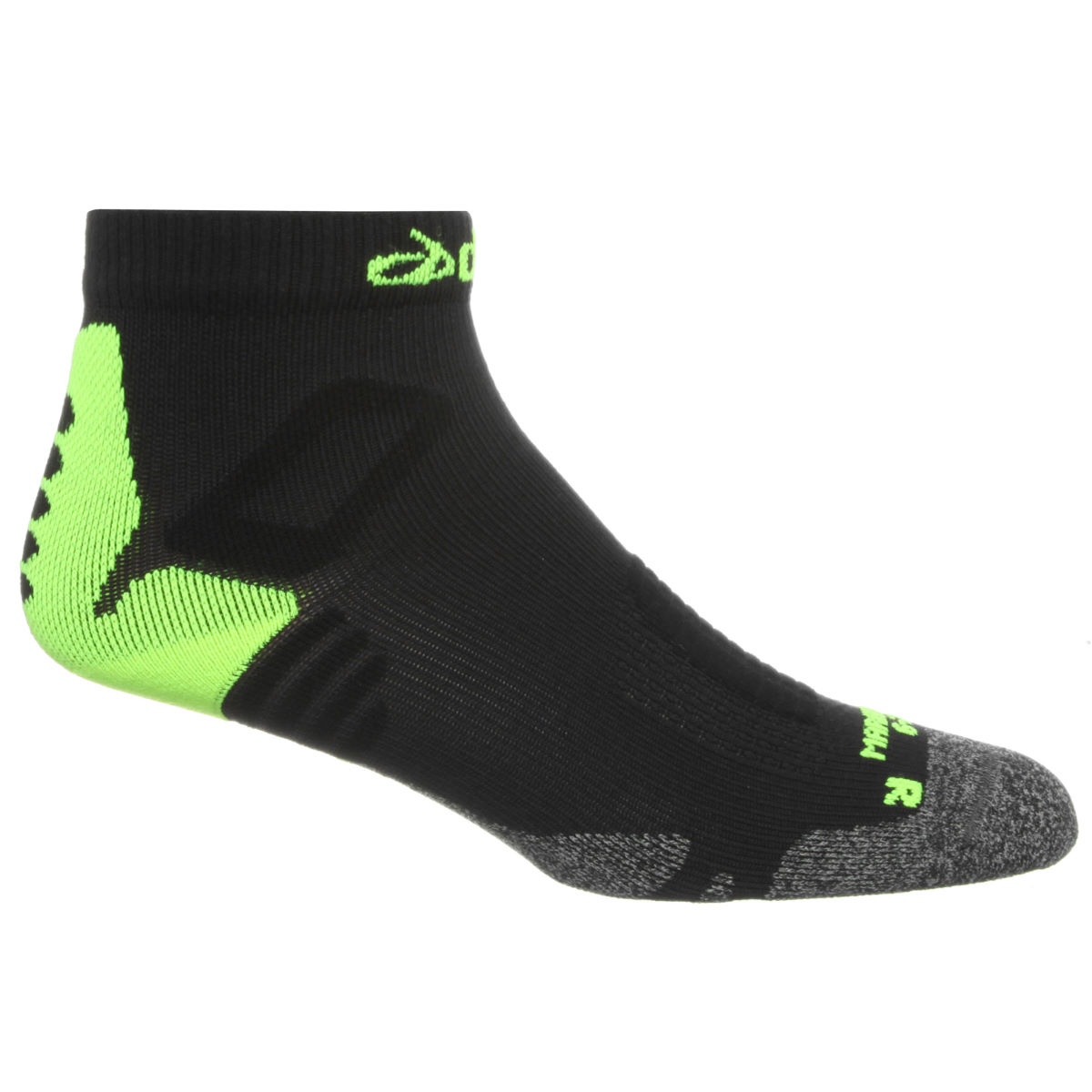 dhb Marathon Run Socks - M Black/Yellow | Running Socks