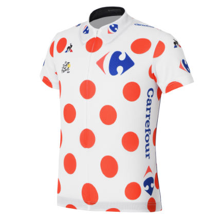Maillot Le Coq Sportif Tour de France Replica King of the Mountains para niños (2017)