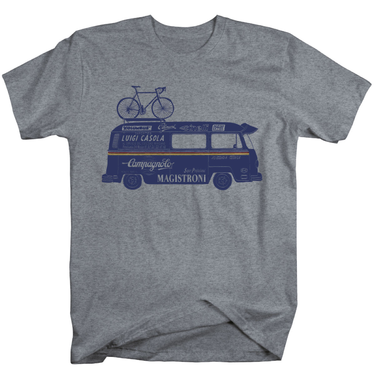T-shirt Endurance Conspiracy Campy Van - L Heather Grey T-shirts