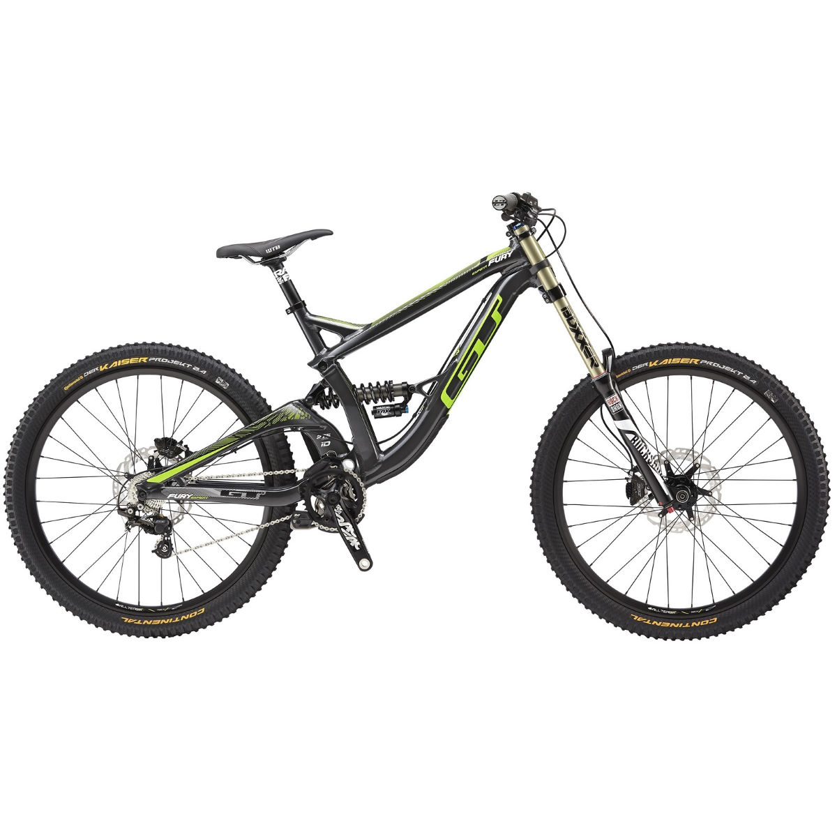 VTT GT Fury Expert (2015) - M Stock Bike Gun Gloss VTT tout suspendu
